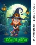 halloween party poster... | Shutterstock .eps vector #1181377318