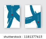 blue ink brush stroke on white... | Shutterstock .eps vector #1181377615