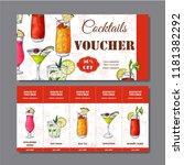 cocktail discount voucher for... | Shutterstock .eps vector #1181382292