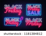 big collectin neon signs for... | Shutterstock .eps vector #1181384812