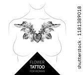 vintage tropical floral... | Shutterstock .eps vector #1181389018