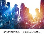 business people work together... | Shutterstock . vector #1181389258