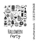 hand drawn illustration candy ... | Shutterstock .eps vector #1181396068