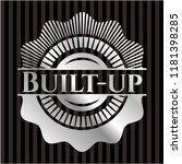 built up silvery badge | Shutterstock .eps vector #1181398285