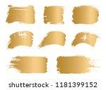 vector golden paint  ink vector ... | Shutterstock .eps vector #1181399152