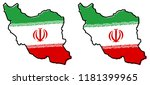 simplified map of iran  persia  ... | Shutterstock .eps vector #1181399965