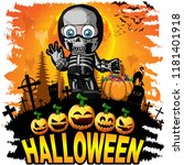 halloween design template with...   Shutterstock .eps vector #1181401918