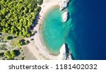 aerial bird's eye view photo... | Shutterstock . vector #1181402032