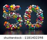 3d rendering  number fifty made ... | Shutterstock . vector #1181402398