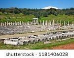 ancient messene  greece   march ... | Shutterstock . vector #1181406028