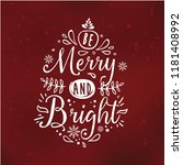 merry christmas. typography.... | Shutterstock .eps vector #1181408992