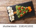beautiful food  christmas tree... | Shutterstock . vector #1181411032