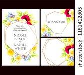 vintage delicate invitation... | Shutterstock . vector #1181412805