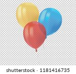 composition of realistic air... | Shutterstock .eps vector #1181416735
