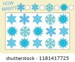 count how many snowflakes.... | Shutterstock .eps vector #1181417725