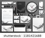 abstract black and white... | Shutterstock .eps vector #1181421688
