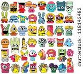 monsters   vector set | Shutterstock .eps vector #118142482