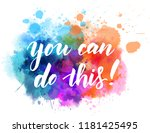 you can do this  modern... | Shutterstock .eps vector #1181425495