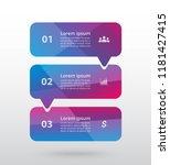 vector lines arrows infographic.... | Shutterstock .eps vector #1181427415