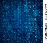 stream of binary code. abstract ... | Shutterstock . vector #1181429995