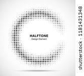 halftone circular frame... | Shutterstock .eps vector #1181431348