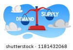 demand and supply on the red... | Shutterstock .eps vector #1181432068