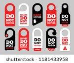 door hanger signs. hotel room... | Shutterstock .eps vector #1181433958
