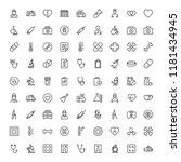 pharmaceutical icon set.... | Shutterstock .eps vector #1181434945