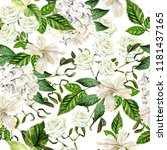 beautiful watercolor seamless... | Shutterstock . vector #1181437165