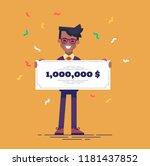 happy african american man in... | Shutterstock .eps vector #1181437852