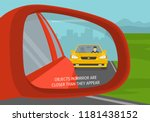 car wing mirror. back side view.... | Shutterstock .eps vector #1181438152