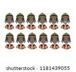 african   black american...   Shutterstock .eps vector #1181439055