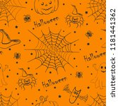 halloween background. seamless...   Shutterstock .eps vector #1181441362