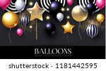 realistic glossy and...   Shutterstock .eps vector #1181442595