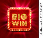big win slots banner casino on... | Shutterstock .eps vector #1181443582