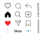 set of social media icon. love  ...