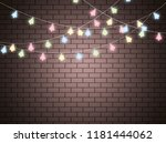 christmas lights isolated... | Shutterstock .eps vector #1181444062