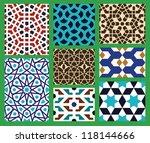 morocco seamless pattern set.... | Shutterstock .eps vector #118144666