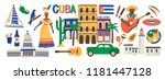 collection of cuba attributes... | Shutterstock .eps vector #1181447128