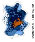 Vector Paper Cut Underwater Sea ...