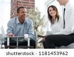 international business partners ... | Shutterstock . vector #1181453962