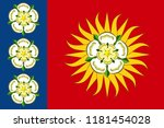 flag of west yorkshire is a... | Shutterstock .eps vector #1181454028