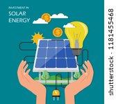 investment in solar energy...   Shutterstock .eps vector #1181455468