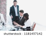 business team working with...   Shutterstock . vector #1181457142