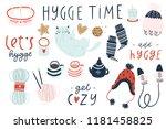 big set of cute vector... | Shutterstock .eps vector #1181458825