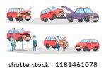 car service set. mechanics... | Shutterstock .eps vector #1181461078