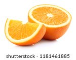 half and slice of perfectly... | Shutterstock . vector #1181461885
