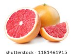 Whole And Sliced Grapefruit...