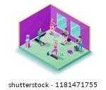isometric 3d illustration... | Shutterstock .eps vector #1181471755