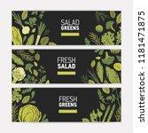 set of horizontal web banner... | Shutterstock .eps vector #1181471875